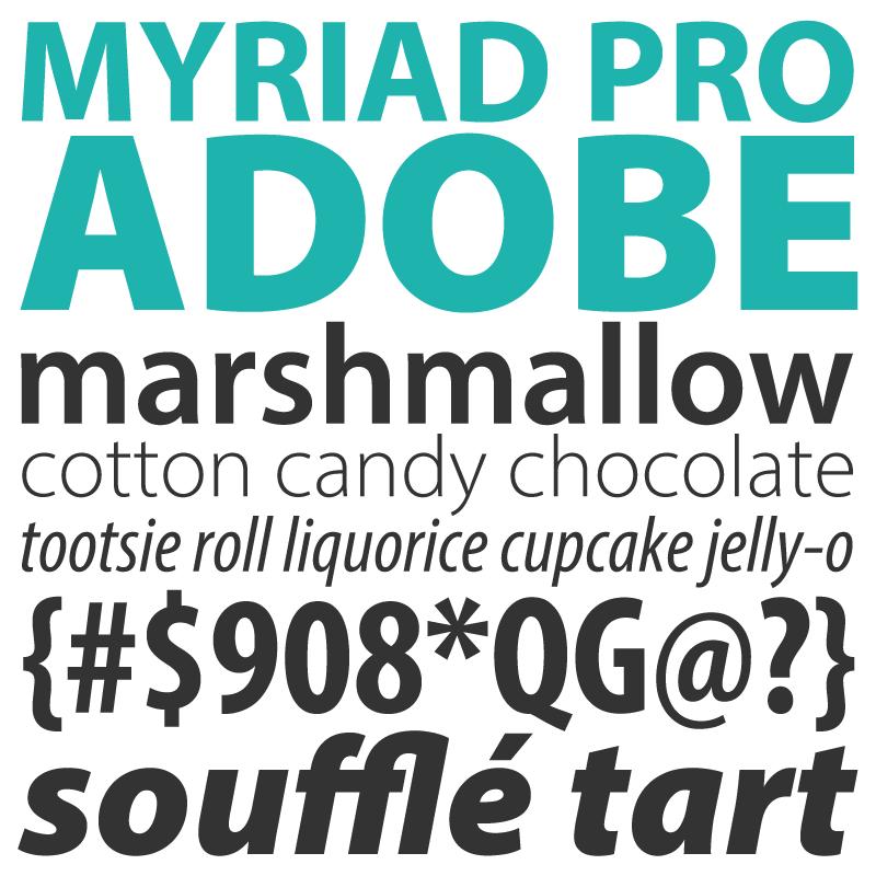 Adobe Myriad Pro 1