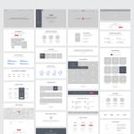 Makieta elementów serwisu typu One Page