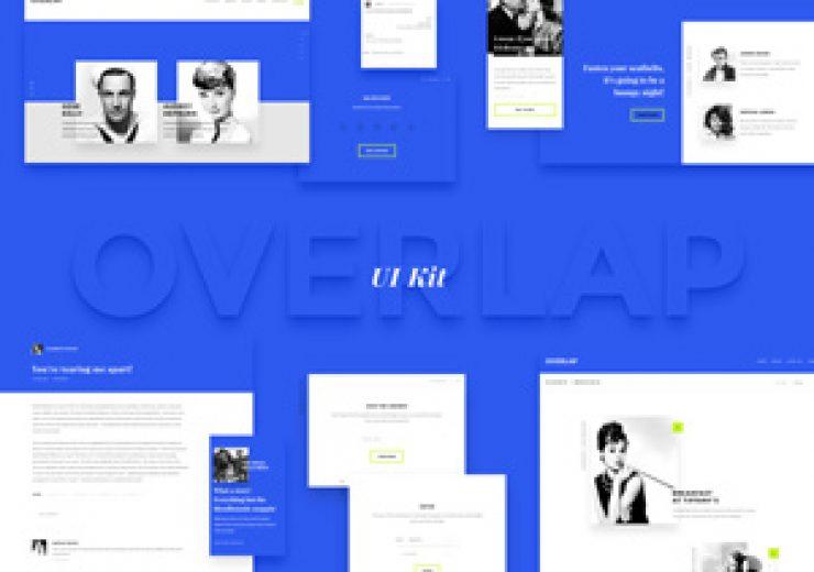 Projektowanie stron internetowych - overlap ui kit 300 740x520