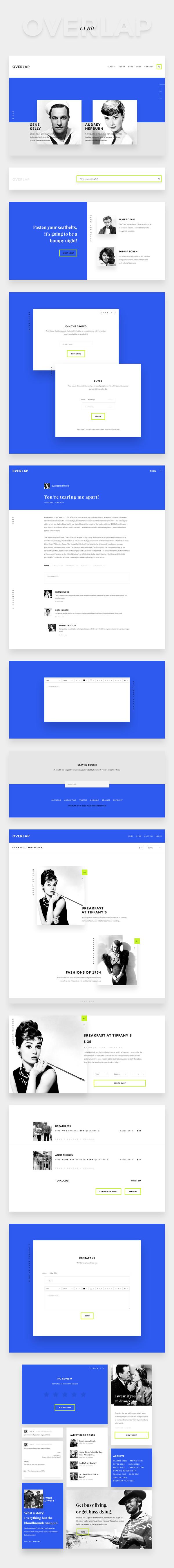 Makieta UI Kit dla projektowania na kolumnach systemu Bootstrap