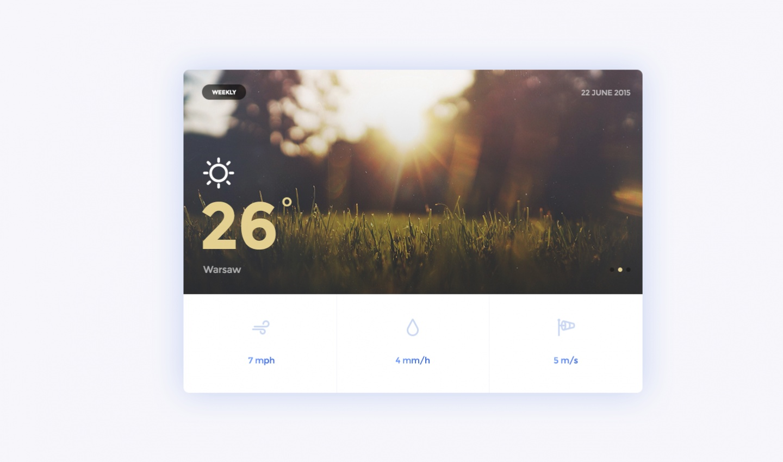 - widok flat podglad widgetu temperatury
